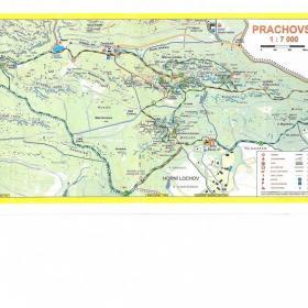 Mapa skal s trasou stezky